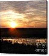 Sunset And Water Canvas Print