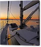 Sunset At Burlington Harbour ... Canvas Print