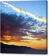 Sunset At Costa Del Sol Canvas Print