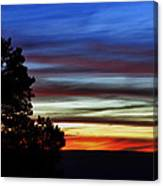 Sunset At Desert View Along The Grand Canyon Canvas Print