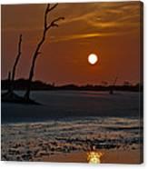 Sunset At Folly Island Sc Canvas Print