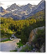 Sunset At Mack Lake Canvas Print