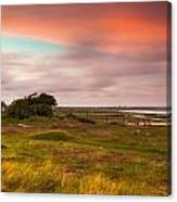Sunset At Pointe D''agon Canvas Print