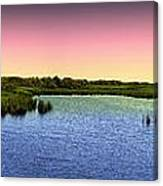 Sunset At Sandpiper Pond Canvas Print