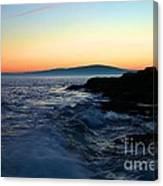Sunset At Schoodic Canvas Print