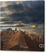 Sunset At The Badlands Canvas Print