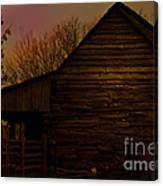 Sunset At The Barn Canvas Print
