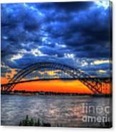 Sunset At The Bayonne Bridge Canvas Print
