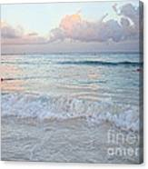 Sunset At The Beach Yucatan Peninsula Mexico Canvas Print