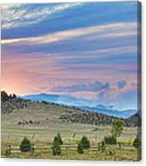 Sunset At The Colorado High Park Wildfire  Canvas Print