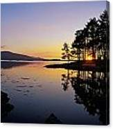 Sunset At The Lake, Kenmare, Ring Of Canvas Print