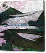 Sunset At Mendenhall Glacier Juneau  Alaska Canvas Print
