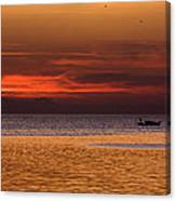 Sunset At The Sea Canvas Print