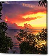 Sunset At The Top-end V2 Canvas Print
