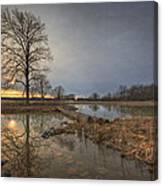 Sunset At Timber Banks Canvas Print