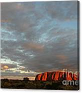 Sunset At Uluru Canvas Print