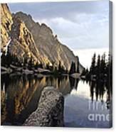 Sunset At Willow Lake Canvas Print