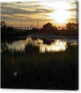 Sunset Cape Charles Virginia Canvas Print