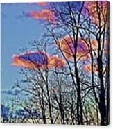 Sunset Cloud Colors 10 Canvas Print