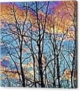 Sunset Cloud Colors  4 Canvas Print