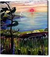Sunset Cruisin' Canvas Print