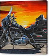 Sunset Electraglide Canvas Print