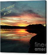 Sunset Forever My Love Canvas Print