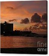 Sunset From Street Level Canvas Print