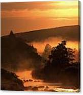 Sunset, Glendalough Glendalough, Co Canvas Print