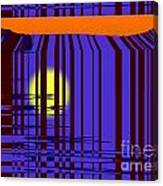 Sunset Grid Canvas Print