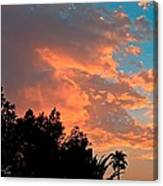 Sunset In Calm Skies Two Canvas Print