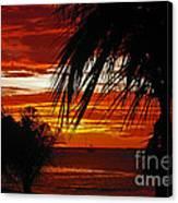 Sunset In Cancun Canvas Print