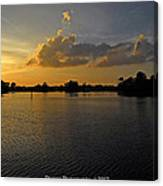 Sunset In Clearwater Florida Canvas Print