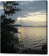 Sunset In Door County Canvas Print