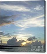 Sunset In Majuro Canvas Print