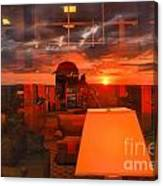 Sunset In Mckeever Lobby Canvas Print