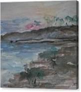 Sunset In Mendocino Canvas Print
