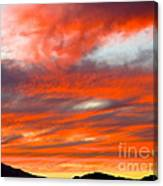 Sunset In Motion Canvas Print