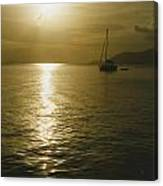 Sunset In The Bvi Canvas Print