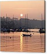 Sunset In The Harbor Crosshaven County Canvas Print