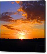 Sunset In Wayne County Canvas Print