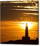 Sunset Obelisk Canvas Print