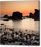 Sunset On A Rock Canvas Print