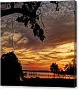 Sunset On Biloxi Bay Canvas Print