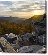 Sunset On Black Rock Mountain Canvas Print