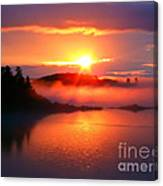 Sunset On Campobello Island  Canvas Print
