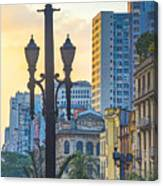 Sunset On Downtown In São Paulo Canvas Print