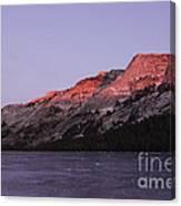 Sunset On Frozen Tenaya Lake Canvas Print
