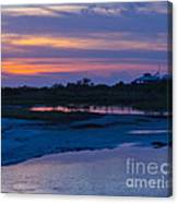 Sunset On Honeymoon Island Canvas Print