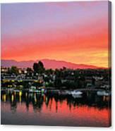 Sunset On Lake Havasu Canvas Print